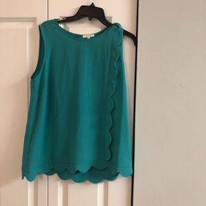 Pleonie Light Kelly Green Sleeveless Top Size L